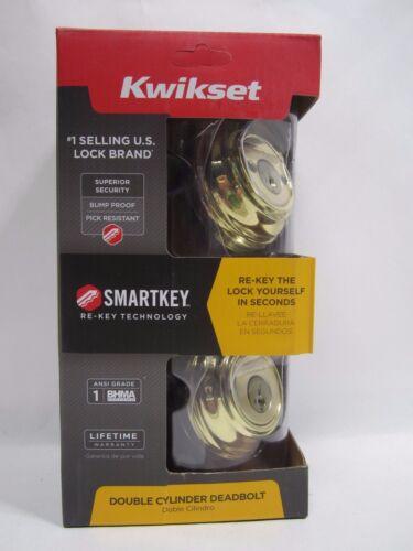 Kwikset Signature 99850-055 Polished Brass SmartKey Double Cylinder Deadbolt