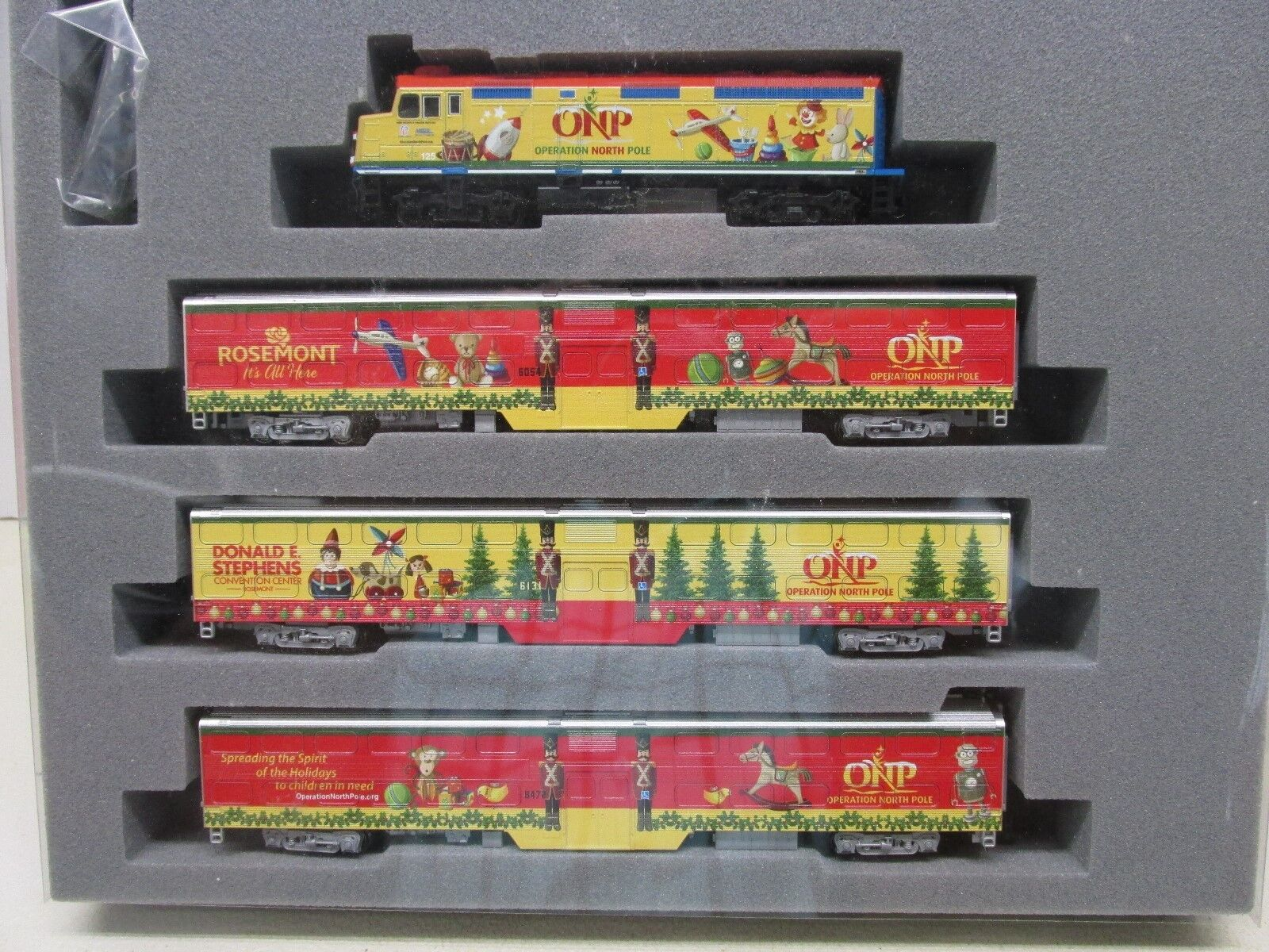 KATO OPERATION NORTH POLE CHRISMAS TRAIN SETF40PH   CARS LOT B  N