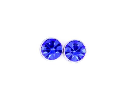 Clásico imán magnético estilo de diamante pendientes de presión de cristal