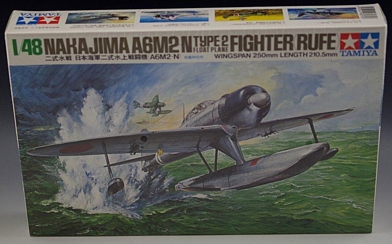 TAMIYA NAKAJIMA A6M2N FIGHTER RUFE MODEL VINTAGE NIB SEALED 1 48 SCALE
