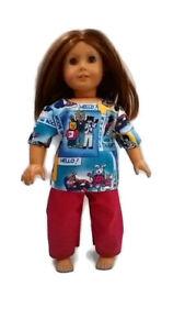 "Scrubs fits American Girl 18"" Doll Clothes Kitty Nurses"