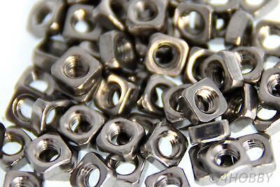 100x M4 Vierkantmutter Edelstahl Gewindeplatte Sw7 Gleitmutter Seien Sie Im Design Neu Business & Industrie