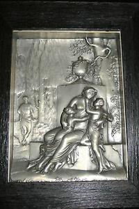Konstruktiv * Altes Reliefbild Motiv-römerepoche * SchöN Und Charmant Metallbild Zinnbild