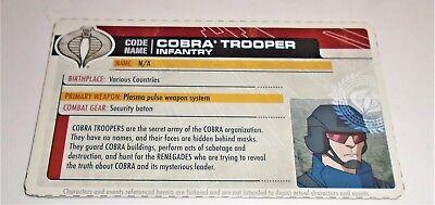 Card Filecard 30th Anniversary 2011 Cobra Trooper V16 Infantry G I JOE File I.D