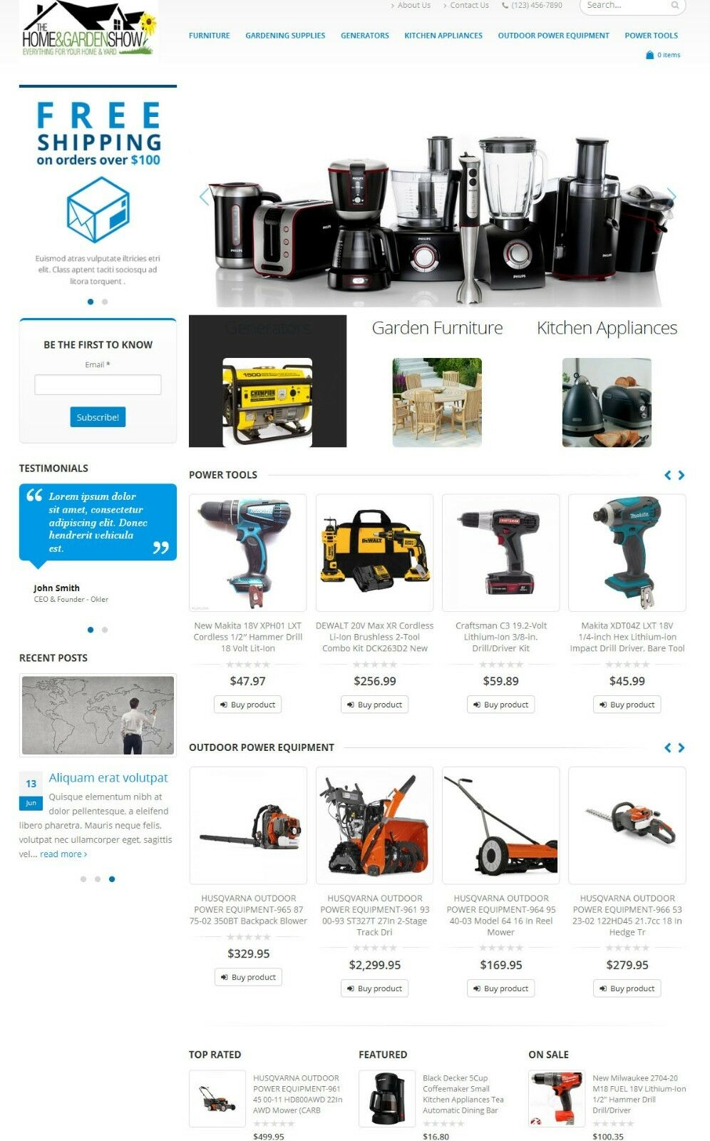 Home and Garden Tools Store Website - Amazon Affiliate Store on AutoPilot
