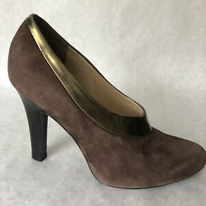 Cole-Haan-Shoes-Womens-Size-7-Brown-Shoes-High-Heels-7B-Suede