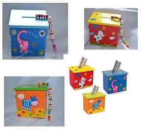 Traumhafte-Spardose-Kinder-Sparschwein-mit-Namen-Sparkasse-Holz-B-Ware-Farbwahl