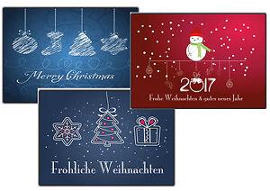 weihnachtskarten set 10 30 50 100 500 st ck