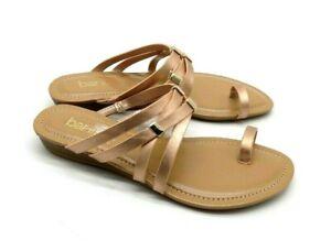 81a235711 Macy s bar iii Slide Sandals 5.5 Metallic Rose Gold Toe Ring Straps ...