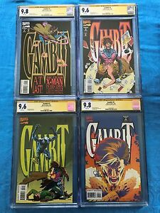 Gambit-1-4-set-1993-Marvel-CGC-SS-9-8-9-6-9-6-9-6-Signed-by-Lee-Weeks