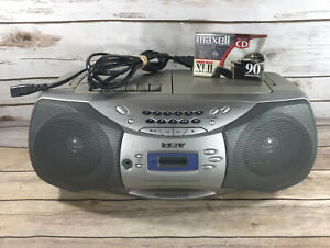 Sony CFD-S26 CD Cassette Radio Player Stereo AM/FM Boombox Tested & Works EUC