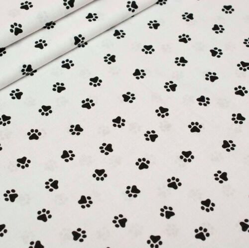 Tissu Pattes de Chat Chien Coton 100/% Popeline Fabrics Cat Paws Dog