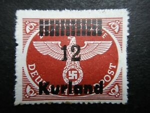 Germany Nazi 1945 Stamps MNH Kurland Overprint Emblem Third Reich Swastika Eagle