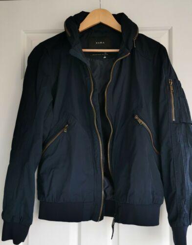 Zara men's Uomo Taglia Media (M) Blu Navy Giacca Cappotto Autunno Inverno Wear  YTOG2