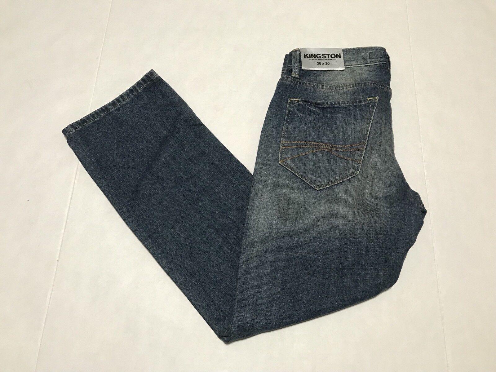 NWT Express Mens Kingston Classic Fit Straight Leg Jeans 30x30