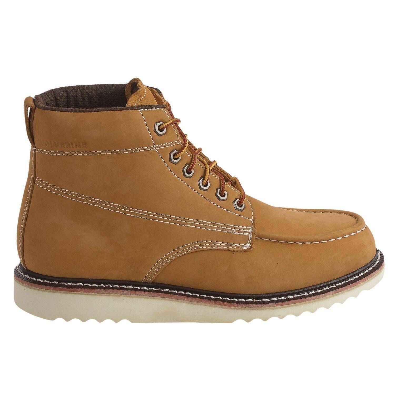 "Wolverine No. 1883 Ranger Moc-Toe Boots-Nubuck, 6"" Mens Sz 11 Honey"