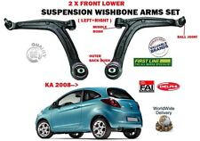 FOR FORD KA 2008-> LEFT + RIGHT LOWER FRONT SUSPENSION WISHBONE ARM + BALL JOINT