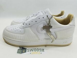 Details about NIKE AIR FORCE 1 LUX ITALIAN LEATHER WHITE WHITE STRAW 310276 111 SIZE 12
