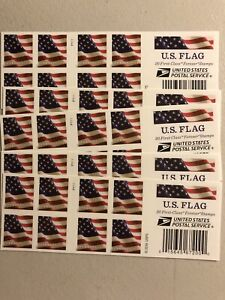 USPS U.S FLAG 20 First Class Forever Stamps 2016 (120 pcs) New