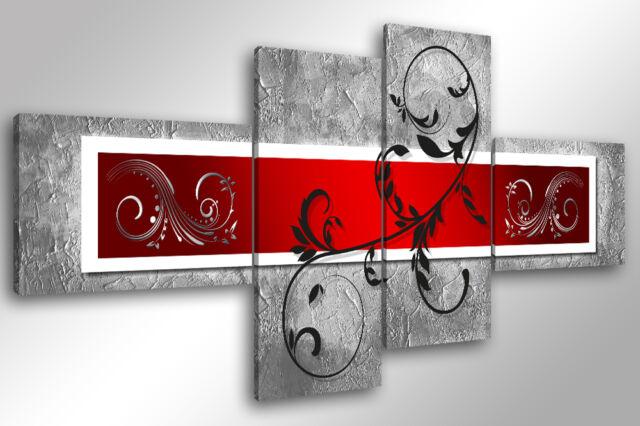 Quadro su Tela Quadri Moderni XXL cm 200x100 ABSTRACT 7 arredamento stampa casa