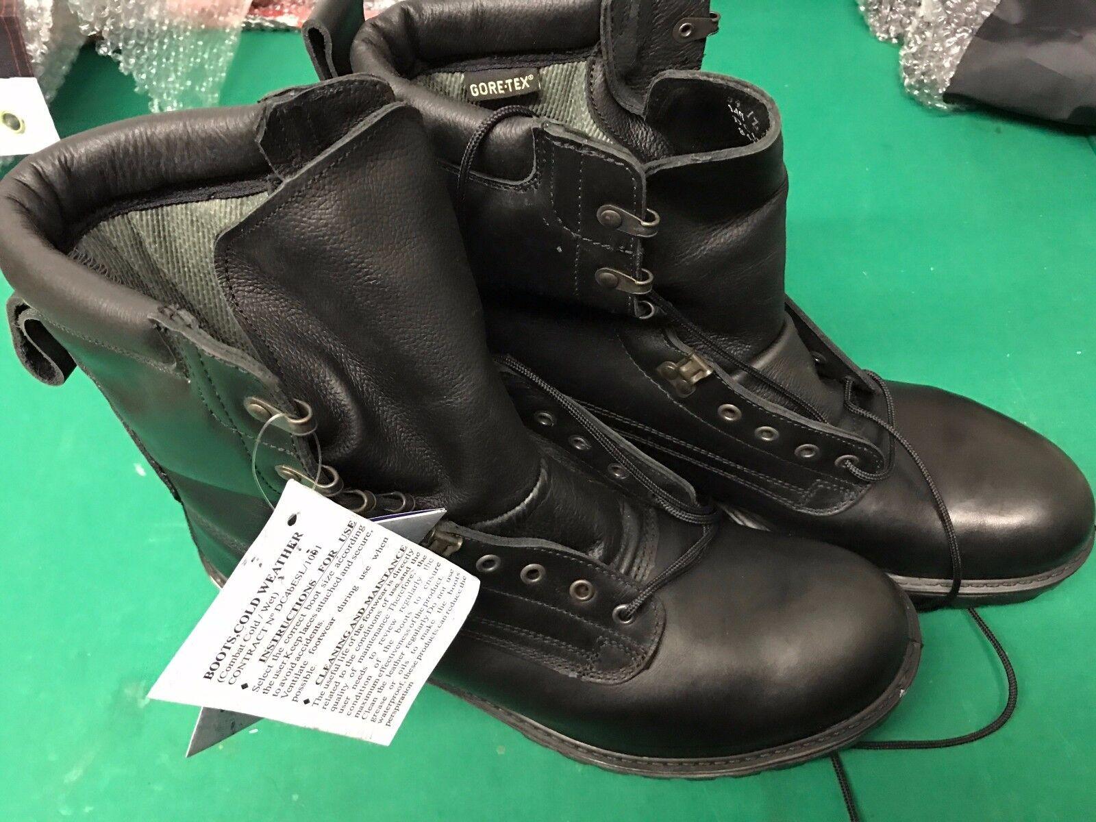 Nuevo botas negras GORTEX MILITARES Tema Varios Tamaños Ejército Mod