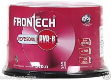 Pack Of 50 Pieces Frontech Professional Blank DVD - R 4.7GB 16x High Quality RC