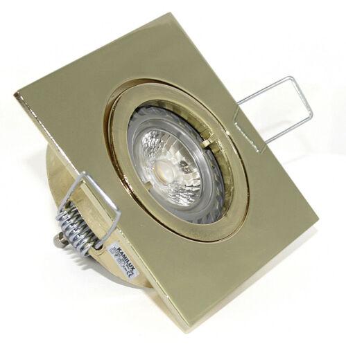 inkl Power LED 5W=50W Leuchtmittel DIMMBAR 230V Bad Einbaustrahler Spot eckig
