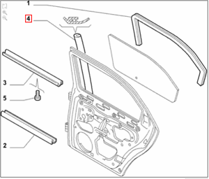 Genuine Nuovo di Zecca ALFA ROMEO 156 Fuorigioco//MANO DESTRA sigillo sportello posteriore Pilastro