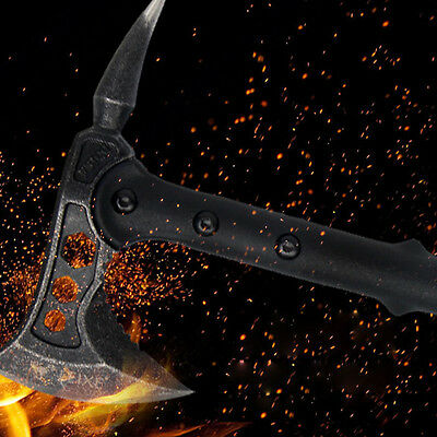 Camping Survival Tool Hunting Knife Tactical Axe Pickaxe Hatchet Tomahawk Axt