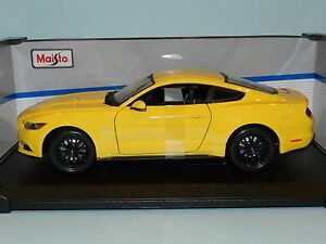 Maisto-Special-Edition-1-18-2015-Ford-Mustang-Yellow-MIB