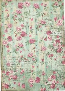 Image Is Loading Rice Paper For Decoupage Scrapbook Craft Sheet Pretty