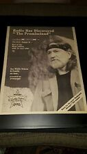 Willie Nelson The Promiseland Rare Original Radio Promo Poster Ad Framed!