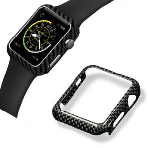 huge discount c73b6 3f00a Details about Real Genuine Authentic Carbon Fiber Watch Case for Apple  Watch series 3 4 44mm