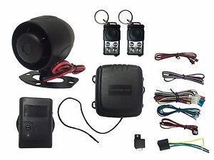4 Channel HornBlasters Car Alarm System With Shock Sensor/Slide Remote