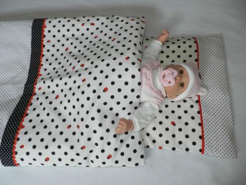 Babybettwäsche Marienkäfer 80x80 und 40x35
