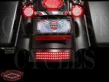 Custom Dynamics Tri-Bar LED Fender Tip Light for Harley FLHX 10-13 - Smoke Lens