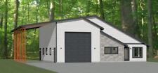 46x48 House - 1 Bedroom 1.5 Bath 1 RV - 1,157 sqft - PDF Floor Plan - Model 3C