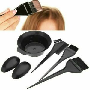 5x-Set-Hair-Colouring-Brush-And-Bowl-Set-Bleaching-Dye-Kit-Beauty-Comb-Hot