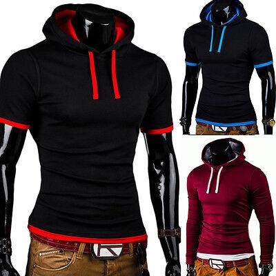 BEHYPE 2in1 Hooded T-Shirt Poloshirt Hoodie Hemd Schwarz/Grau/Rot/Blau NEU
