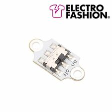 2 x Electro Fashion Slide Button Switch E-Textiles Sewable Electronics Projects