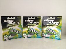 Gillette Mach3 Sensitive Razor Blades Cartridges 4pk Total of 12 Blades