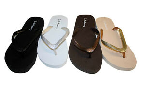 size 40 88ff4 0308d Details about Womens Flip Flop With Soft Footbed W/ Glitter Straps Flops  Assorted Colors-001