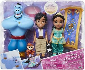Box-4-Figure-Aladdin-Djinn-Jasmine-Abu-Rug-18cm-Jakks-Disney-Princess