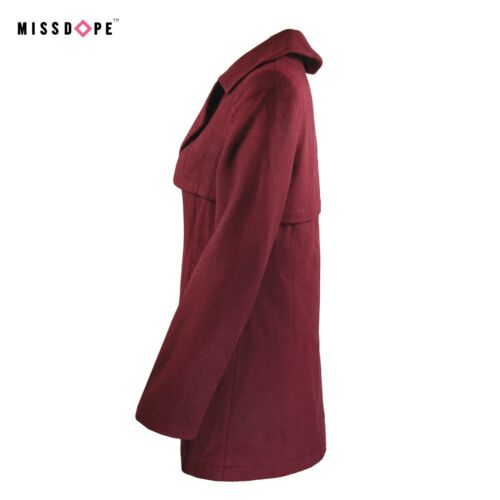 NEW WOOL MAROON COAT WOMENS RED PARKA LONG DOUBLE BREAST LADIES TRENCH WINTER