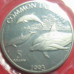 1993-MARSHALL-ISLANDS-5-COMMON-DOLPHIN-INDO-PACIFIC-OCEAN-MINT-SEALED-w-HOLDER