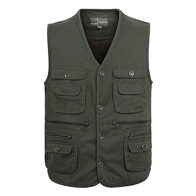 Outdoor pockets Fishing Vest Hiking Photography Cotton Vest Travel Waistcoat