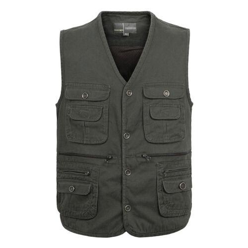 Outdoor pockets Fishing Vest Hiking Photography Cotton Vest Travel Waistcoat