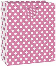 PINK POLKA DOTS - Medium Gift Bag - Spots Birthday Party