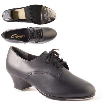 Black Teletone Taps Fitted Capezio /'CG06/' Low Heel Split Sole Tap Shoes