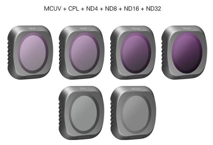 DJI Mavic 2 Pro telecamera Lens  Filter 6pcs Combo  MCUV+CPL+ND4+ND8+ND16+ND32  costo effettivo